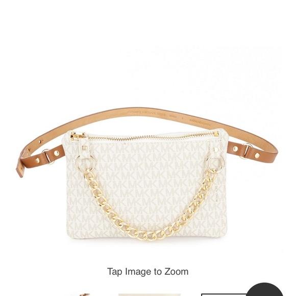 Michael Kors belt bag with pull chain. e46268490f4b2